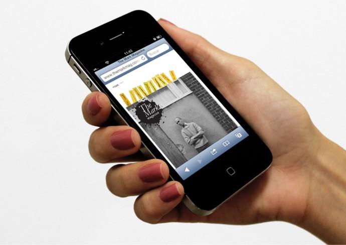 Interface vista em um smartphone