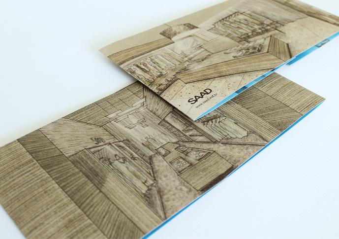 Frente e verso do convite - ambos impresso no lado crú do papel Duplex