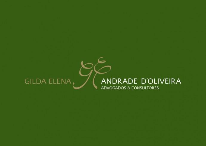 "Marca ""Gilda Elena Andrade D'Oliveira"" - fundo colorido"