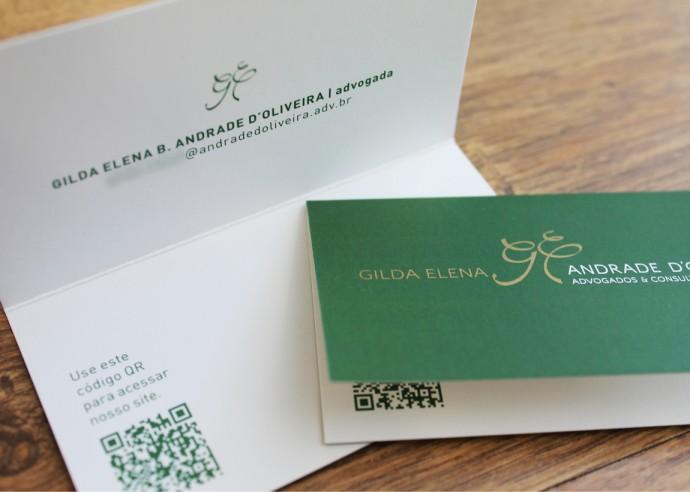 Cartão de visita aberto