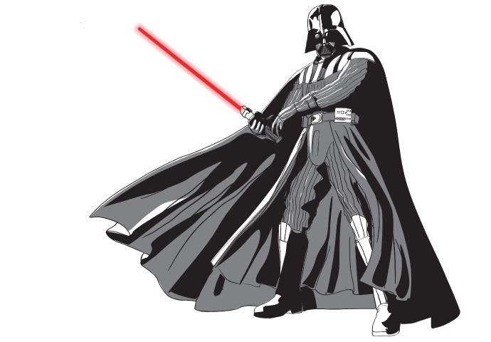 Ops, Darth Vader no caminho para o refeitório...